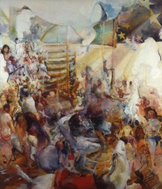 """Up,"" Susan Fossati, oil painting"