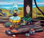 """Cynthia Whalen Nelson """"Weathering the Storm Margo Gelb Dune Shack"""""""