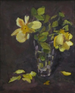"Pam Neal ""Yellow Roses in a Vase #2"""
