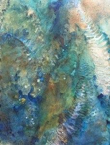 "Robin Beckwith ""Fossils Watermedia"""