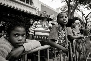 "Brian Malloy ""MLK parade spectators , stars and stripes"""