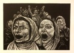 """Darcy Edwin Martyred: """"The Daughters of Afghanistan Woodcut"""""""