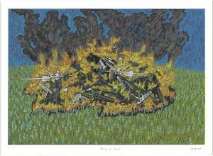 "Haley Hughes ""Burning of Violence"""