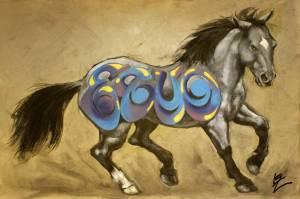"Liz Chappie Zoller ""Iron Horse: Blue"""