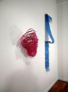 """Barbara Owen """"Swirl of Red, Woven Blue"""
